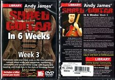 Hal Leonard, Lick Library, Andy James' Shred Guitar in 6 Weeks,Week 3 - NEW DVD