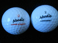 """20  MAXFLI   NOODLE - """"LONG AND SOFT"""" MODEL - Golf Balls -  """"A""""  Grade."""