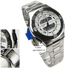 Casio Mens World Time Alarm Analog Digital Sport Watch NIB AQ164WD AQ-164WD-7AV