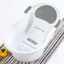 Nuby Newborn Baby Bath Tub with Built in Anti-Slip Seat & Soft Headrest Support