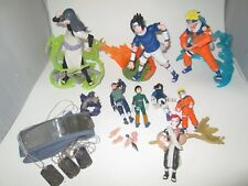"RARE Lot of figures 8.25"" Orochimaru Sasuke Naruto Gaara 2002 Base Display loose"