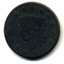 1822 PENNY US Coronet Head CENT LARGE US SCARCE LOW MINTAGE KEY DATE COIN#502