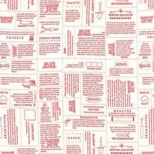 Sweetwater Mama Said Sew Volume II Define Fabric in Vanilla Apple Red 5610-11