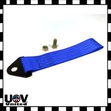 High Strength Sports Racing Tow Strap Set Fit Front Rear Bumper Towing Hook Blue