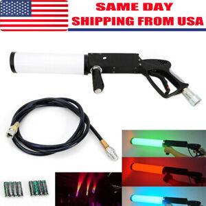 Party LED Cannon CO2 Gun Night Club Bar DJ Jet Effect Fogger Smoke Gun
