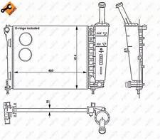 Radiator, engine cooling NRF 53526