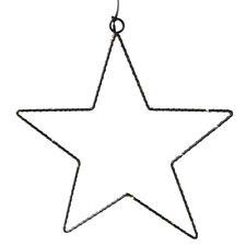 Metallstern GLIMMA schwarz beleuchtet 30cm Lichterkette Hängestern Weihnachten