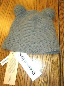 PIU by CELA PIU Handknit Hat gray~NWT Urban Outfitters Teddy Bear beanie youth S