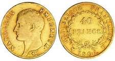 France - Napoléon 1er (1804-1814) - 40 francs revers république 1806 U (Turin)