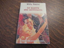 la qualite des sentiments - WILLY PASINI
