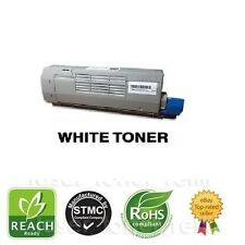 Remanufactured WHITE toner cartridge for use in OKI C711WT WHITE PRINTER