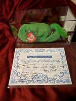 Ty Beanie Baby Legs w/ TABASCO hang tag! 3rd Gen/2nd Gen MWMT One of A Kind!!