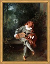 Mezzetin Antoine Watteau commedia dell arte amante anhelo LW h a2 0245