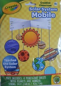Crayola Color the Solar System Mobile Age 5+, Punch-Out w String