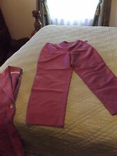 AMANDA SMITH CAPRI CROP PANTS SZ 6 PURPLE DRESSY
