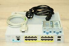 Cisco WS-C2960L-16PS-LL 16-Port Gigabit PoE Catalyst 2960-L Series 1YrWty TaxInv