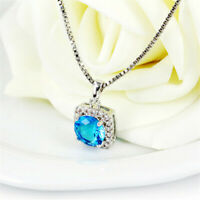 16mm 18K White Gold Plated Mini Pendant Necklace