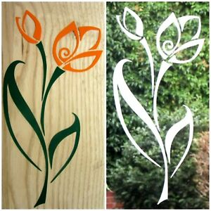 ETCHED GLASS OR COLOURED FLOWER STICKERS, DECAL FOR PATIO DOOR/WINDOWS, SHOWERS