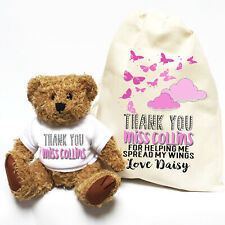 Teacher Appreciation Thank You Gift | Personalised Teddy Bear | Butterflies