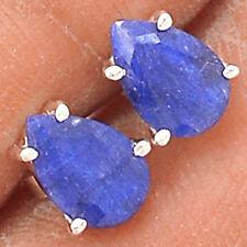 Sapphire 925 Sterling Silver Earrings Jewelry EE28628