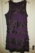 Womens purple sleeveless dress from S.L.fashions size 14 UK