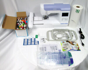 Brother PE800 Embroidery Machine, 138 Built-in Designs, 4 Hoops, LOTS OF EXTRAS