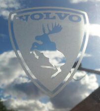 Volvo Prancing Moose etched glass effect vinyl decal sticker - Ferrari parody