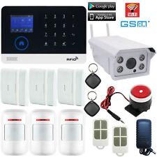 U75 WiFi GSM APP RFID Wireless Home Security Alarm System+Waterproof IP Camera
