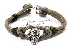 Paracord Typ III Armband mit Skull nach Wahl-Anker Armband mit Anker Verschluß