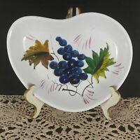 Italy hand-painted Plate, grape pattern dish, italian trinket dish