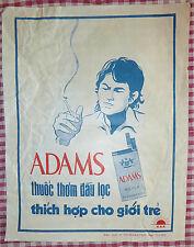 ADAMS - 1974 - Vietnam War - CIGARETTE ADVERTISEMENT POSTER - For Young People