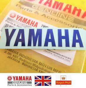 YAMAHA GENUINE R1 R6 R7 XJR YZF Tank Emblem Badge Decal Sticker BLUE 80 x 18mm