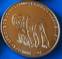 Niger 3000 CFA francs 2003 Lion 2 Africa Elephant unusual coin