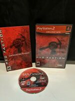 Red Faction Greatest Hits PlayStation 2 PS2 Complete CIB