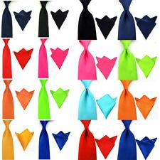 Men Satin Plain Skinny Wide Tie Necktie Set Pocket Square Handkerchief Ties Lot