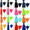 Men Satin Plain Skinny Wide Tie Necktie Set Pocket Square Handkerchief Ties Lot