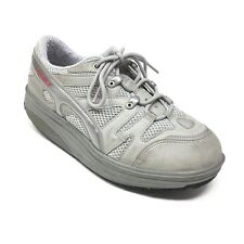 Men's MBT Sport 04 Shoes Sneakers Size 7 Walking Gray Silver Leather A8