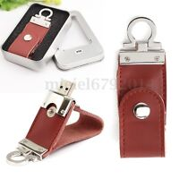 8GB 16GB 32GB USB 3.0 Memory Stick Memoria Disco U Flash Pen Drive Cuero Llavero