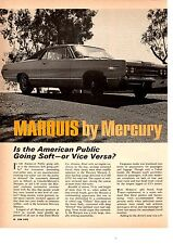 1967 MERCURY MARQUIS 411/330HP ~ ORIGINAL 5-PAGE ROAD TEST / ARTICLE / AD