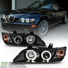 Black 1996-2002 Bmw Z3 Led Halo Projector Headlights Head Lamps Pair Leftright