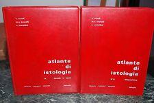 Atlante di istologia Rizzoli/Brunelli/Castaldini due volumi copertina similpelle