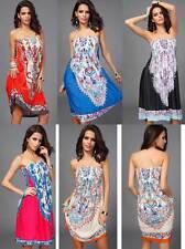 Women Mini Boob Tube Top Dress Tube-dress Size 6-16 Summer Beach Holiday On Sale