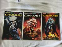 1995 Chaos Quarterly #1-3 (Complete Series); Uncirculated Evil Ernie, Lady Death