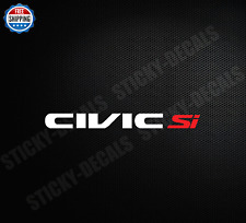 Decal Sticker For Honda Civic SI si JDM Import
