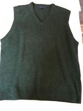 Boden Gents Green Lambswool Tank Top Size XL