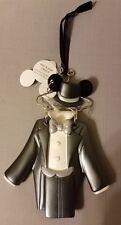 Disney Parks Groom Wedding Tuxedo Suit Mouse Costume Hanger Ornament - NEW