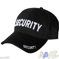 Kombat 100% Cotton Security Baseball Cap Hat 3D Embroidery Doorman Bouncer