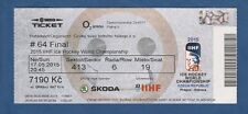 Orig.Ticket  Icehockey World Championship CZECH REP 2015  FINAL  CANADA - RUSSIA