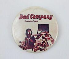 Vintage Original Bad Company Desolation Angels Album Promotional Pinback Button