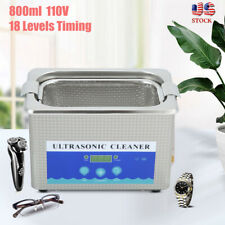 800ML Ultrasonic Cleaning Machine Dental Ultrasound Jewelry Watch Cleaner Tool
